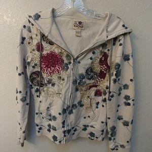 Cherry blossom Lucky Brand hoodie